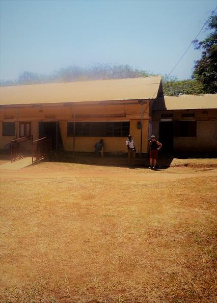 Musema Faruk and Mary Bennell outside GDPU 3