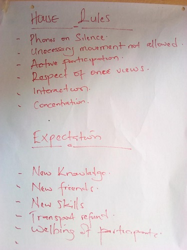 House rules and expectations for all participants