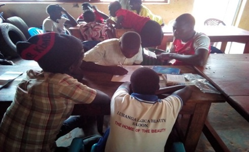 Members of lubanga lakica Enterprise Developing their Business plan