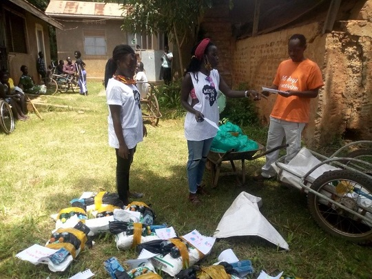 Ability Sports Africa give food to Gulu Wheelchair Basketball Group 2