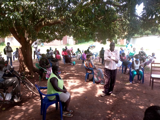 Ojok Patrick with Food Distribution at GDPU (4) 2